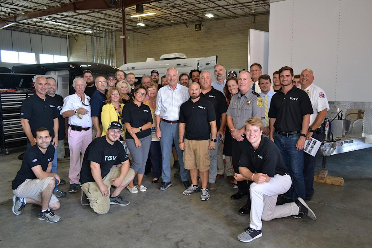 Comptroller Peter Franchot tours TechOps Specialty Vehicles