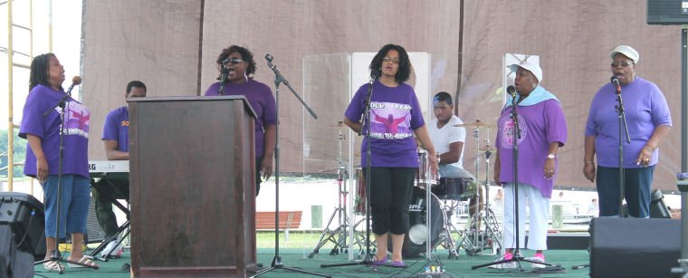Singing at Soulfest