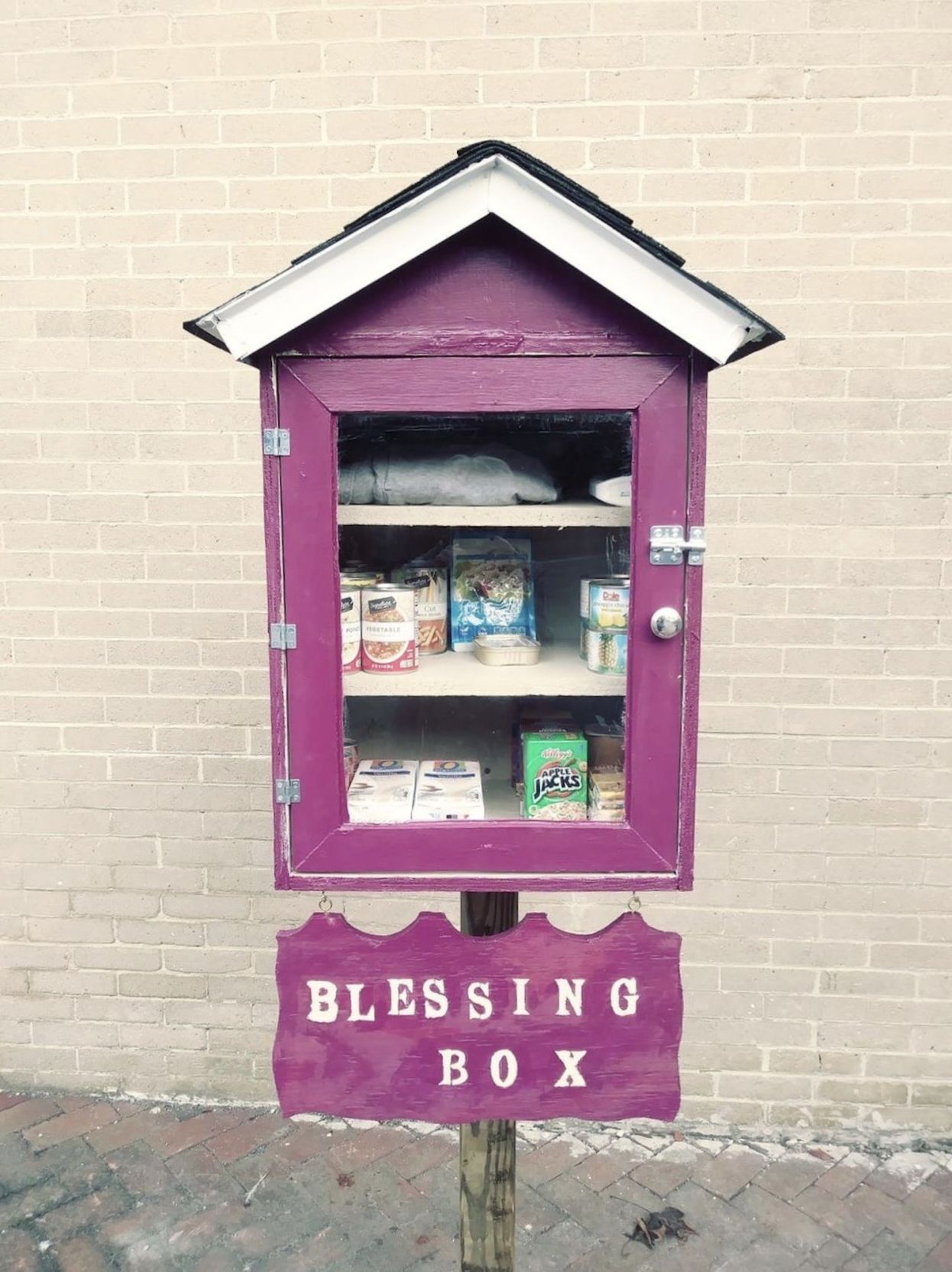 Blessing Box installed outside Janes United Methodist Church