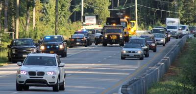 Traffic at scene of fatal accident
