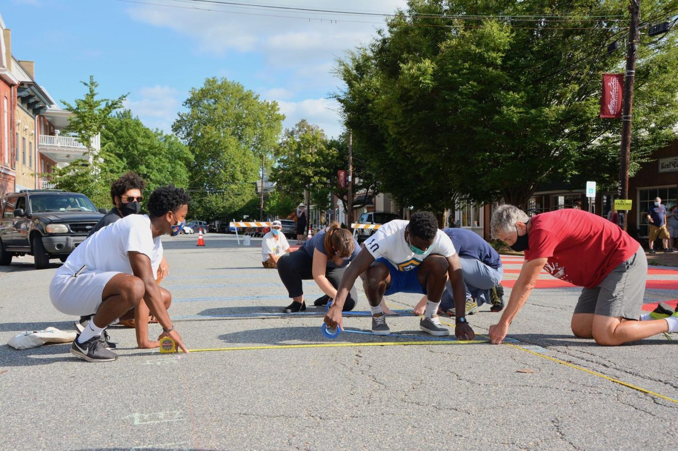Chestertown unites against racism with street mural