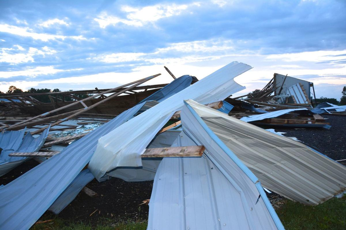 Wind knocks down Worthmore's show barn, horse paddock