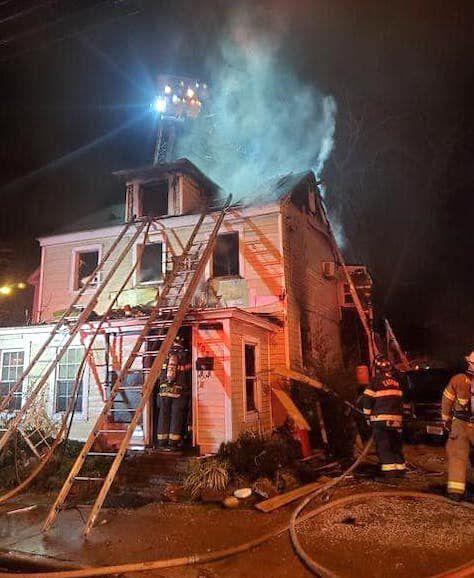 Firefighters Battle Pine Street Blaze