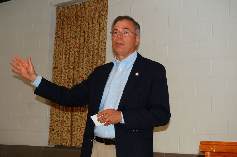 Andy Harris town hall in Easton