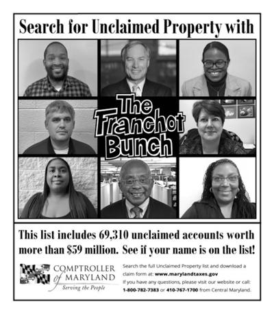 Find unclaimed property with 'The Franchot Bunch'