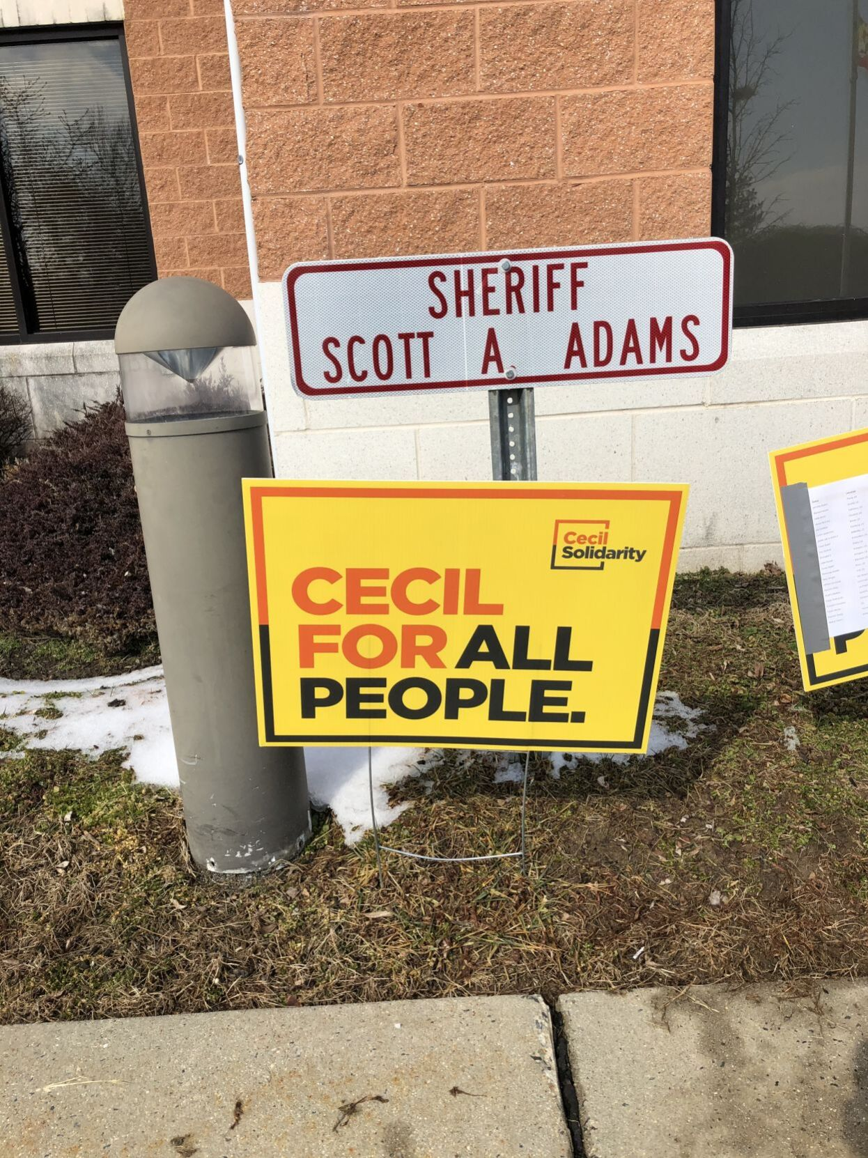 Cecil Solidarity protests to demand the firing of a sheriff's deputy