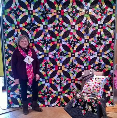 Traditional meets modern in guild's raffle quilt