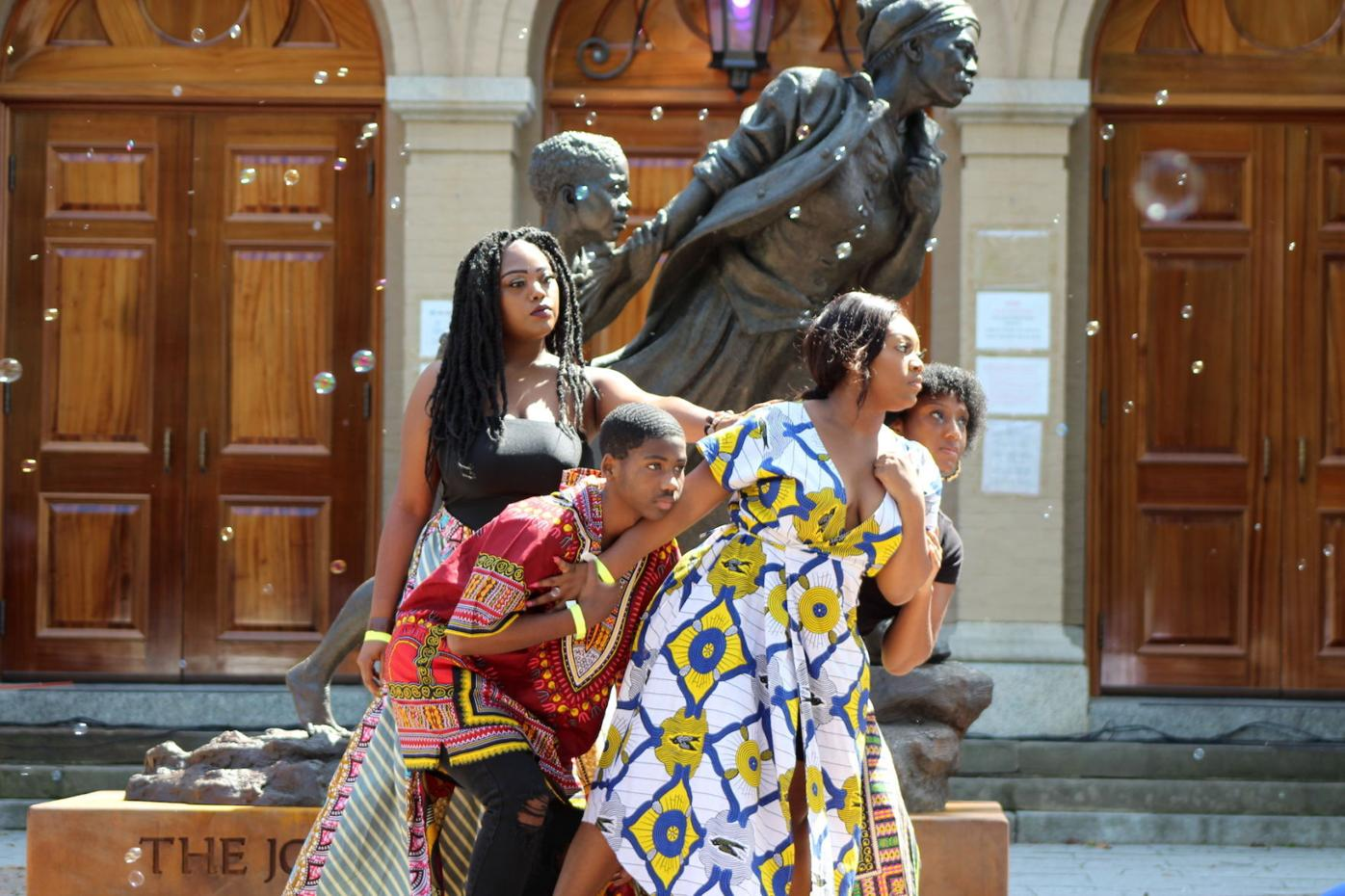 Day of Resilience Tubman statue dance pose