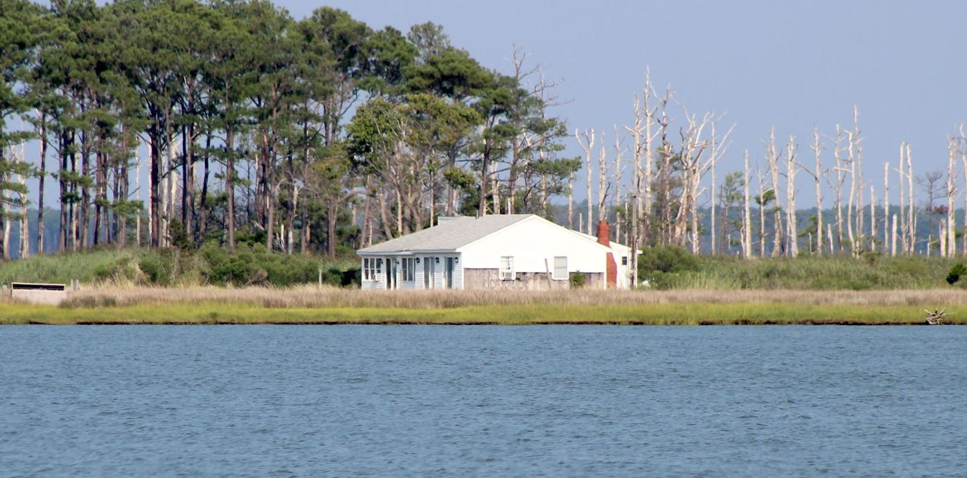hunting lodge water view