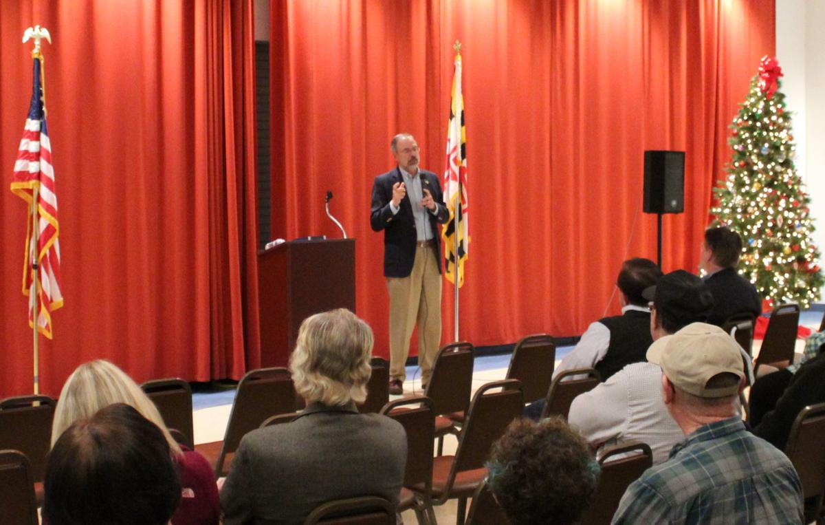 Harris holds town hall in Cambridge