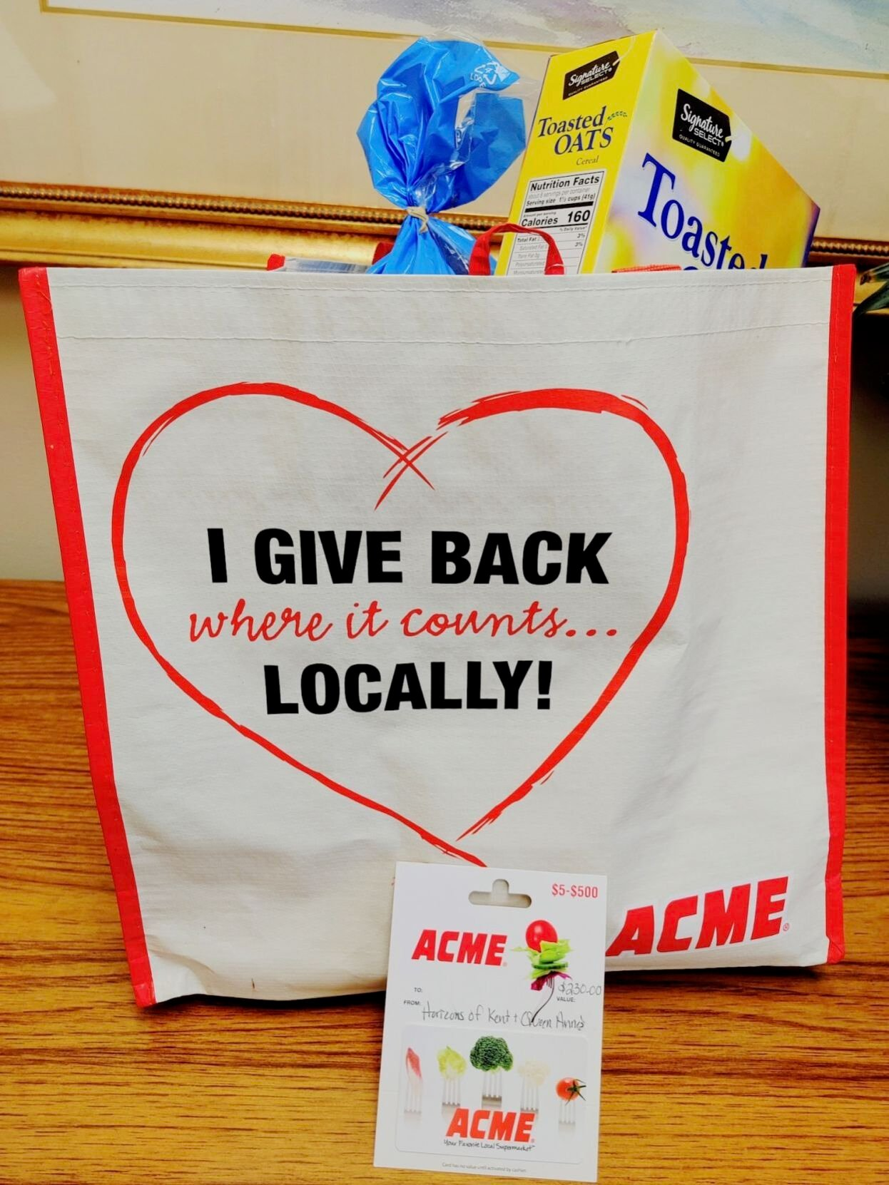 Acme supports Horizons with its Give Back Where It Counts program