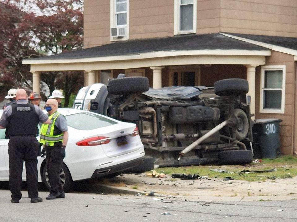 Vehicle rolls over in Federalsburg crash