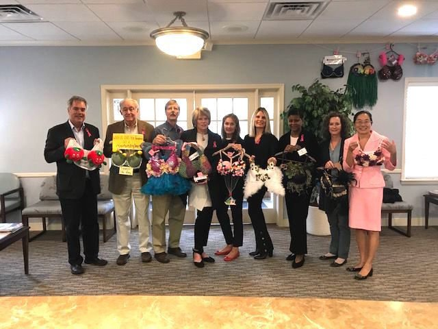 Mid-Shore Women's Health decorates bras for breast cancer awareness