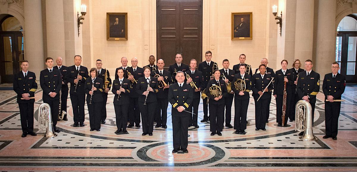 Naval Academy Band performs at Maryland Hall