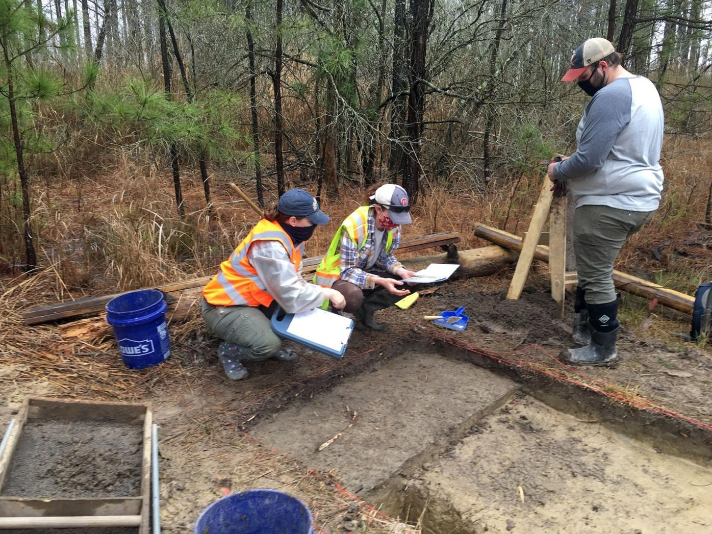 Archaeologists excavate the homesite of Harriet Tubman's father
