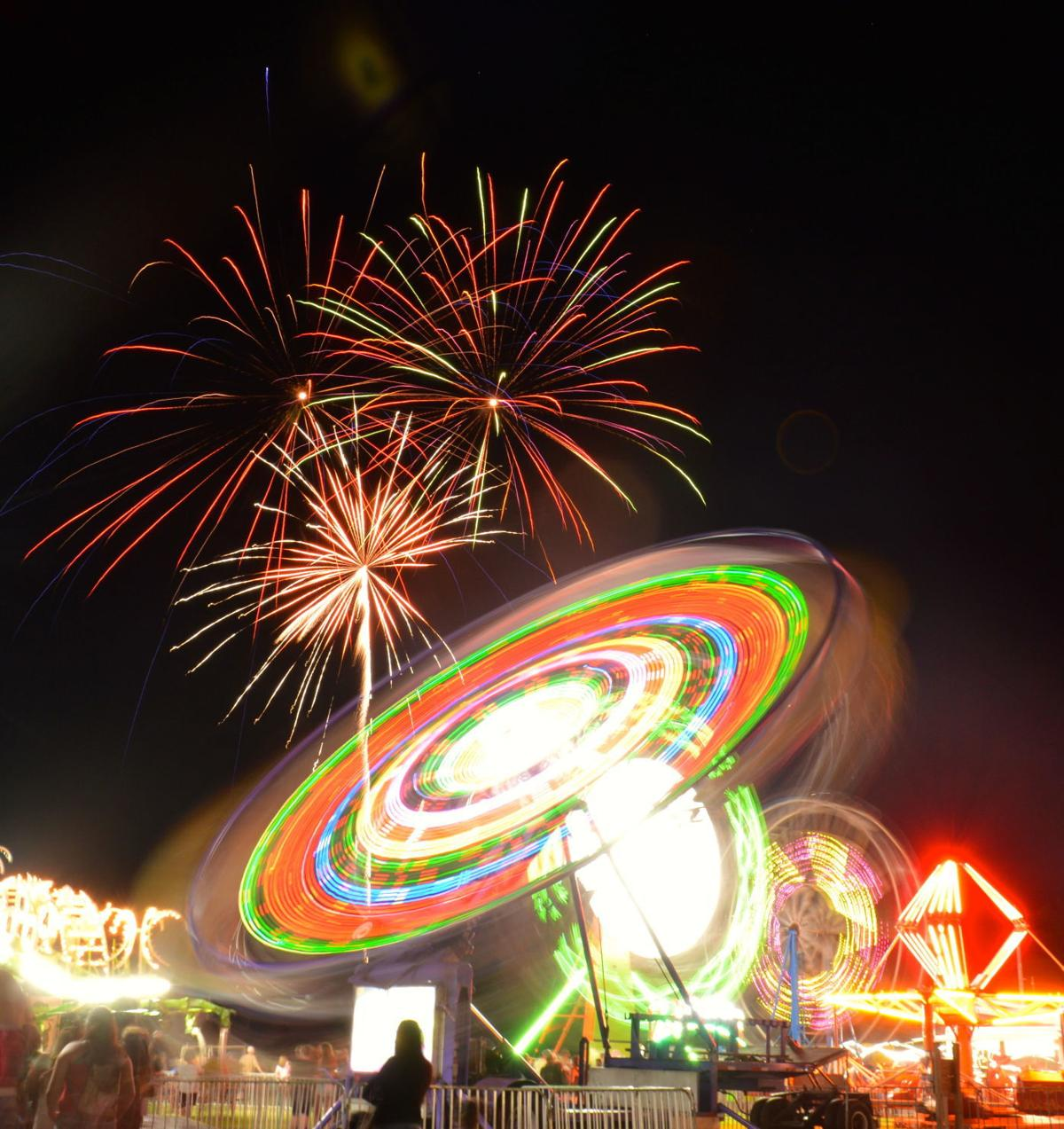 Fireworks over the Greensboro Firemen's Carnival