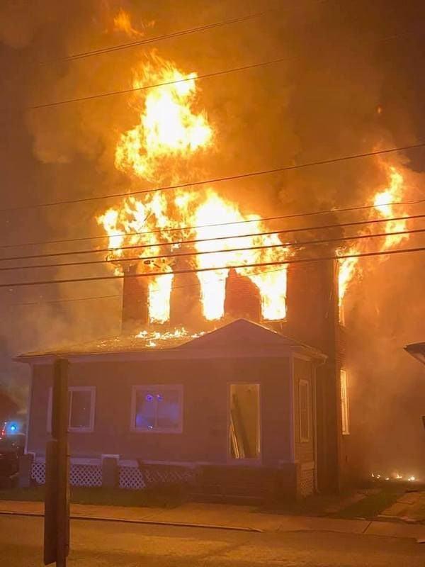 High Street fatal fire flames