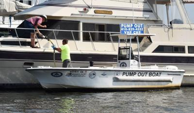 Safe swimming reports, pump-out boat available from ShoreRivers
