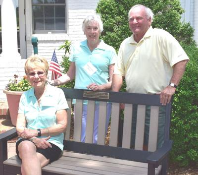 Bench at Chester River's first tee is memorial to Harry Burton