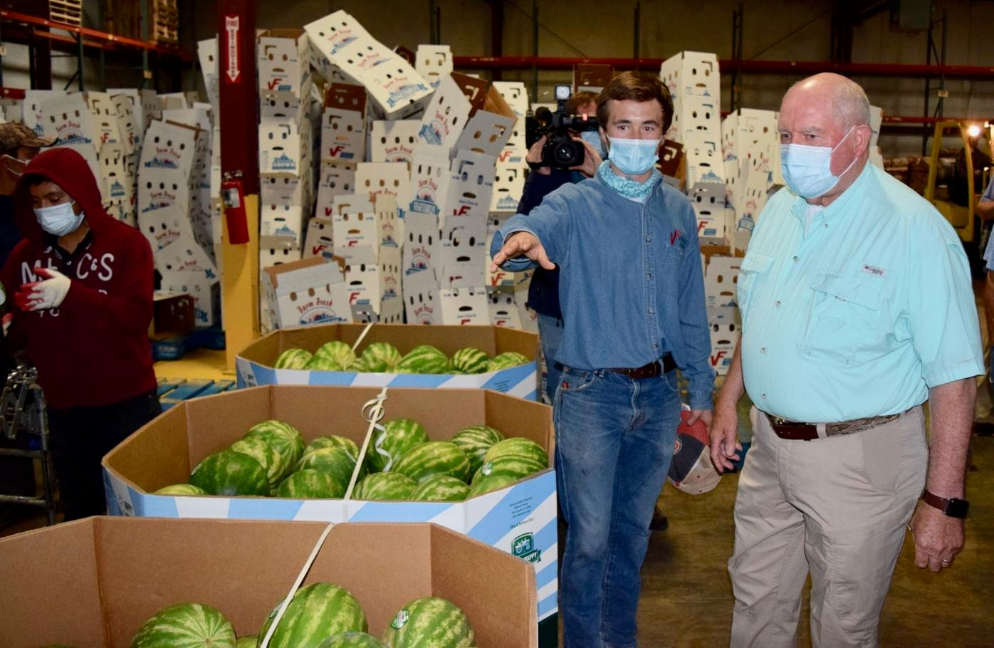 Perdue visits Choptank Transport in participation with USDA program