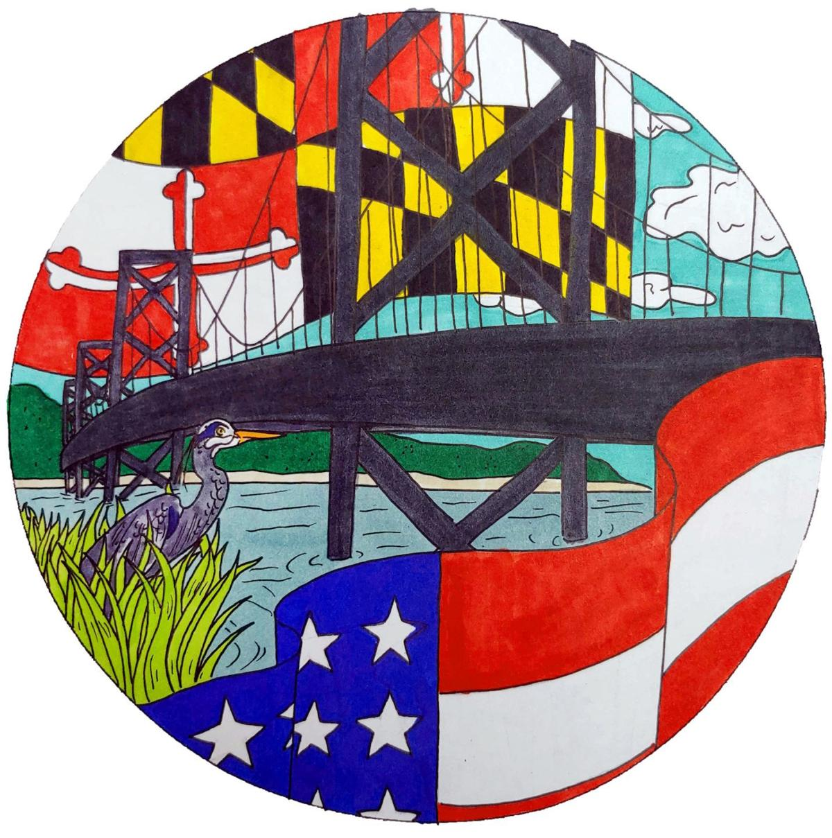 Student artist finalist in 'I Voted' sticker competition