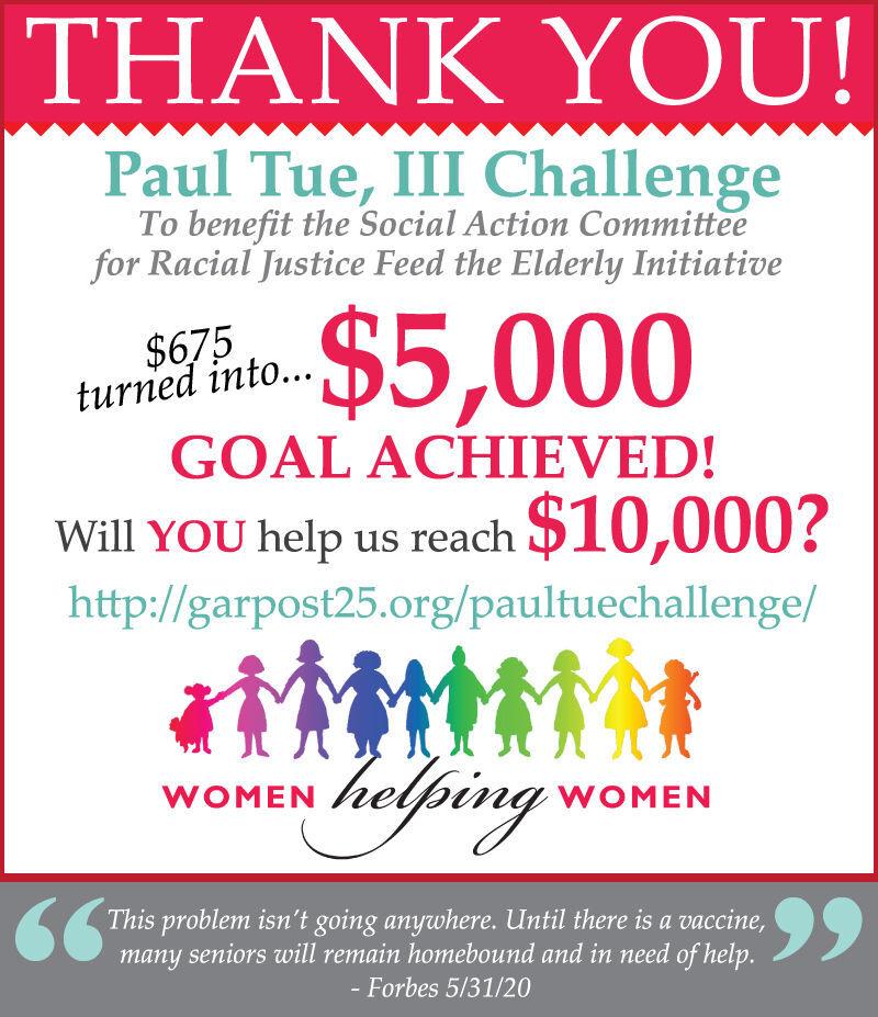 Women Helping Women announce Paul Tue challenge