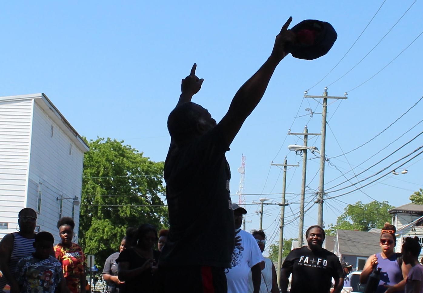 Justice for Ra Street Event dancer points