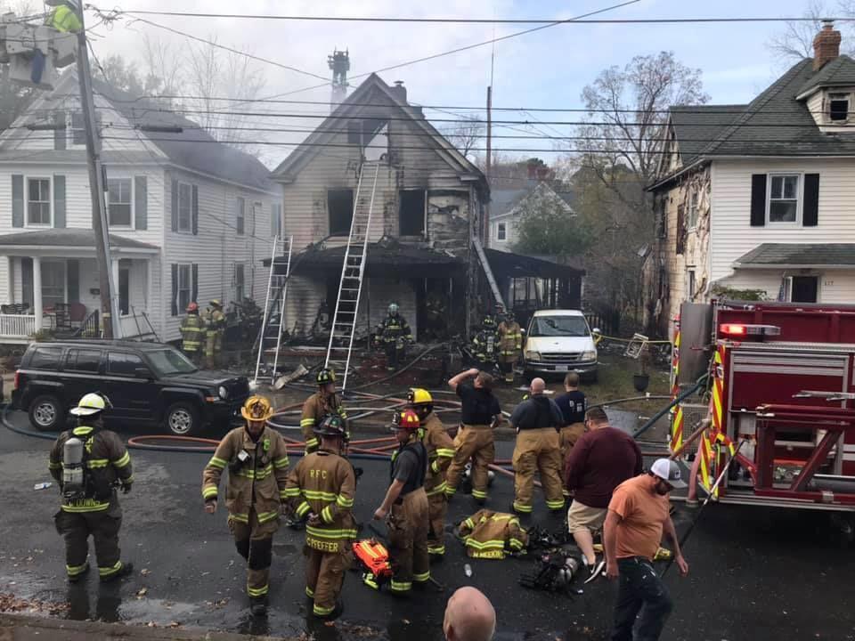 Cambridge house fire