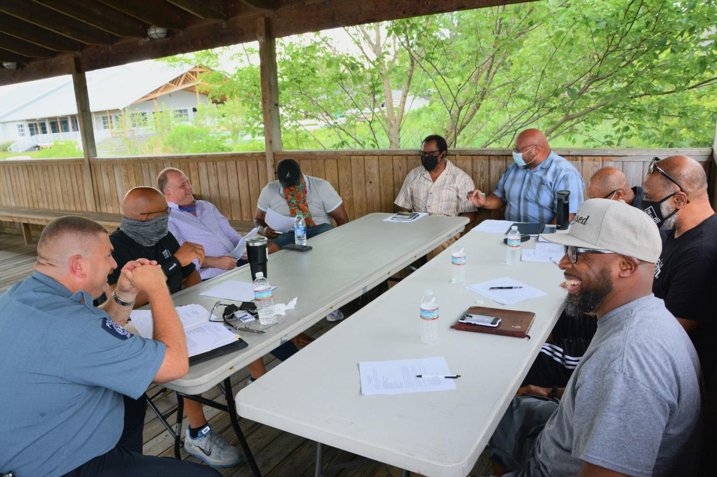 Police, black community talk about racism