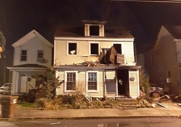 Pine Street Houses After Fire