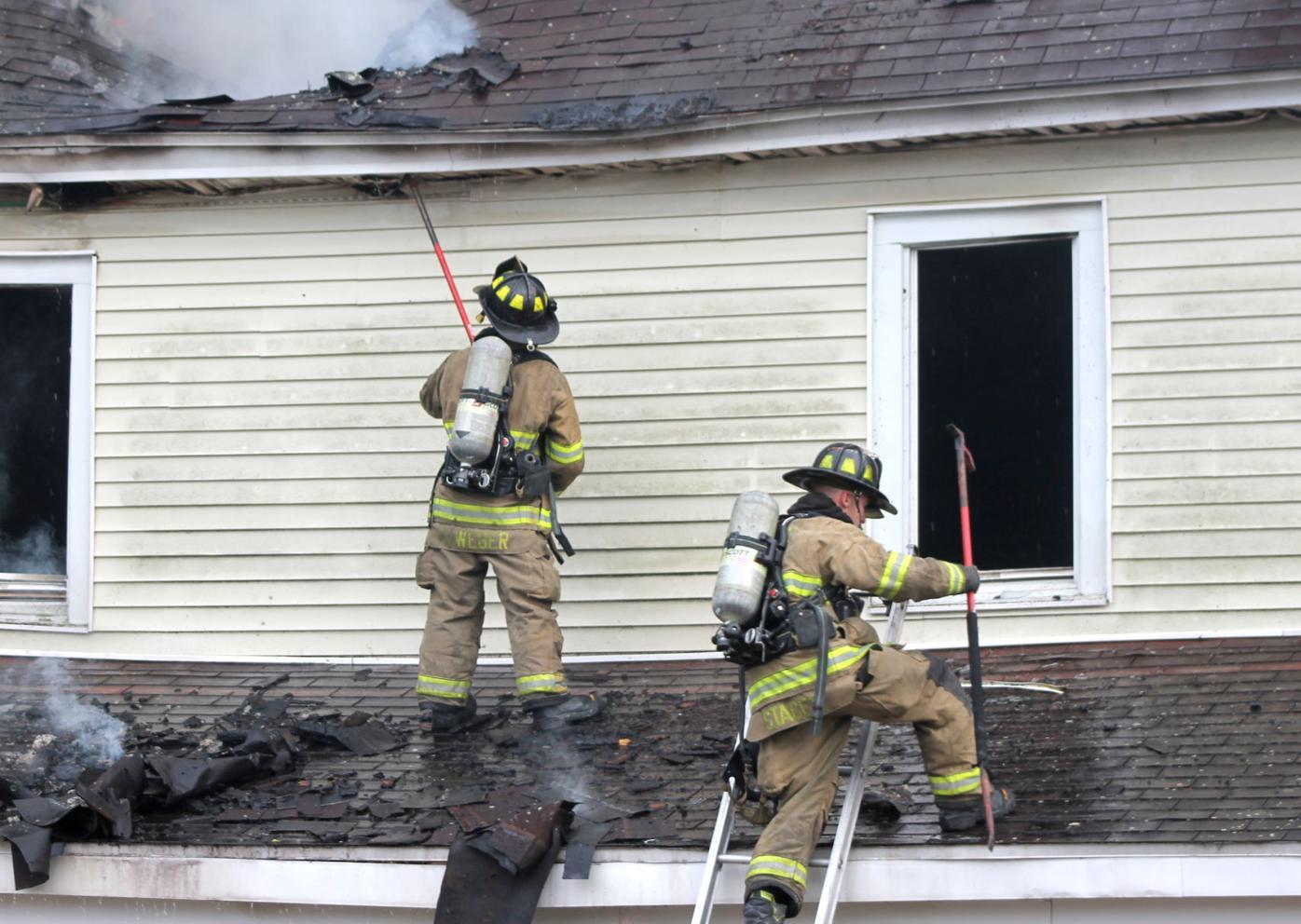 Hurlock house fire porch roof