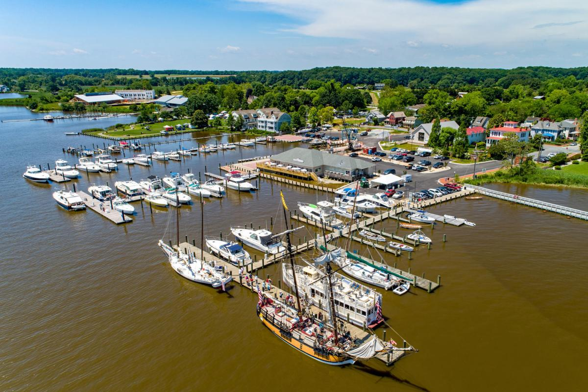 Tall ships sailing into Chestertown's new port