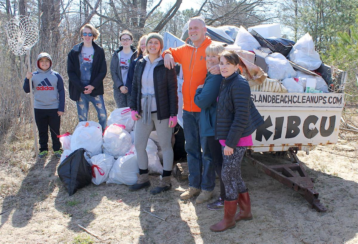 Some Of The 112 Volunteers Who Turned Out For Kent Island Beach Clean Ups First Cleanup 2018 On Saay Morning March 31 At Terrapin Park In
