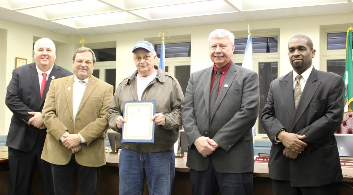Charles Brooks, Jr. recognized for service as county employee