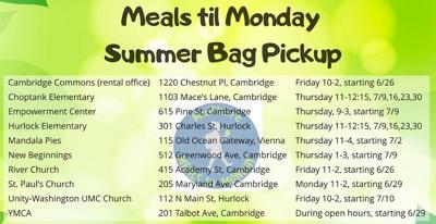 MidShore Meals til Monday Summer 2020 Schedule