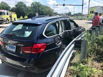 Seven reported injured in 2-vehicle crash at Price Station intersection