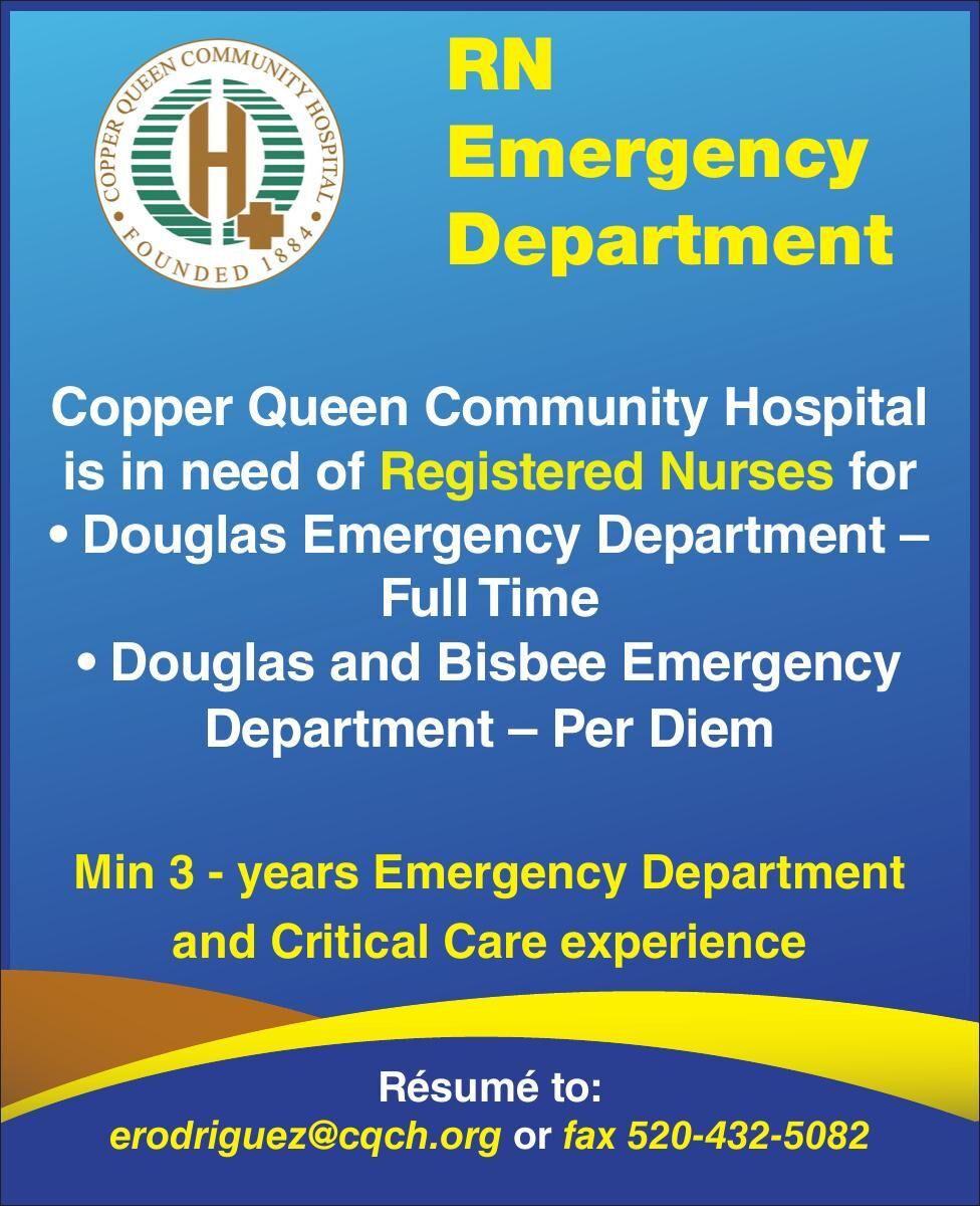 Copper Queen is hiring for RN