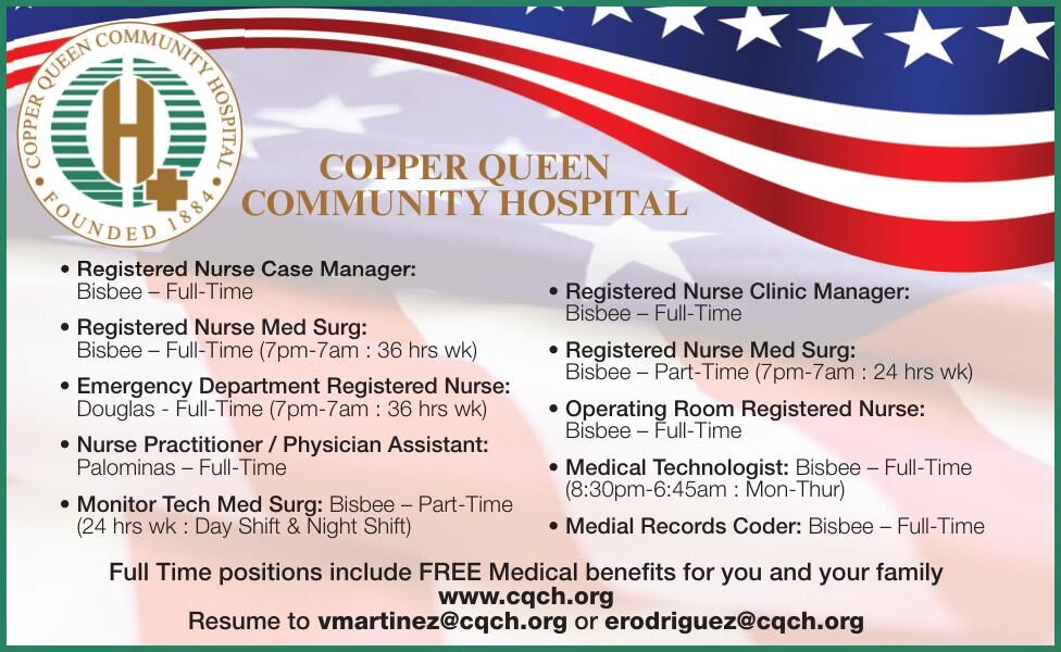 Copper Queen Community Hospital is Hiring!