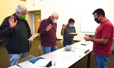 TUSD swears-in three returning board members