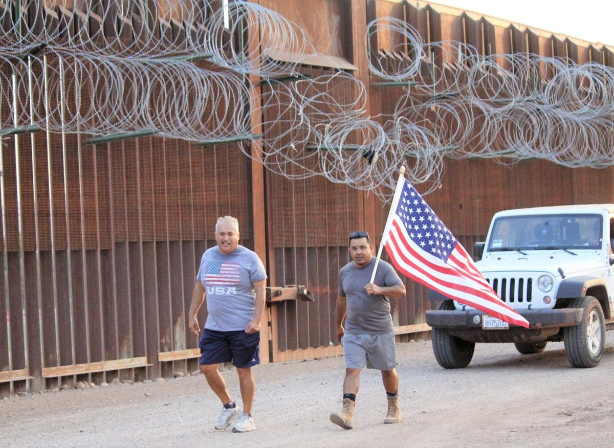 'Walk the line' march to bring awareness to veteran deportation makes stop in Douglas