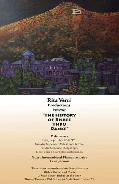 history of bisbee thru dance poster