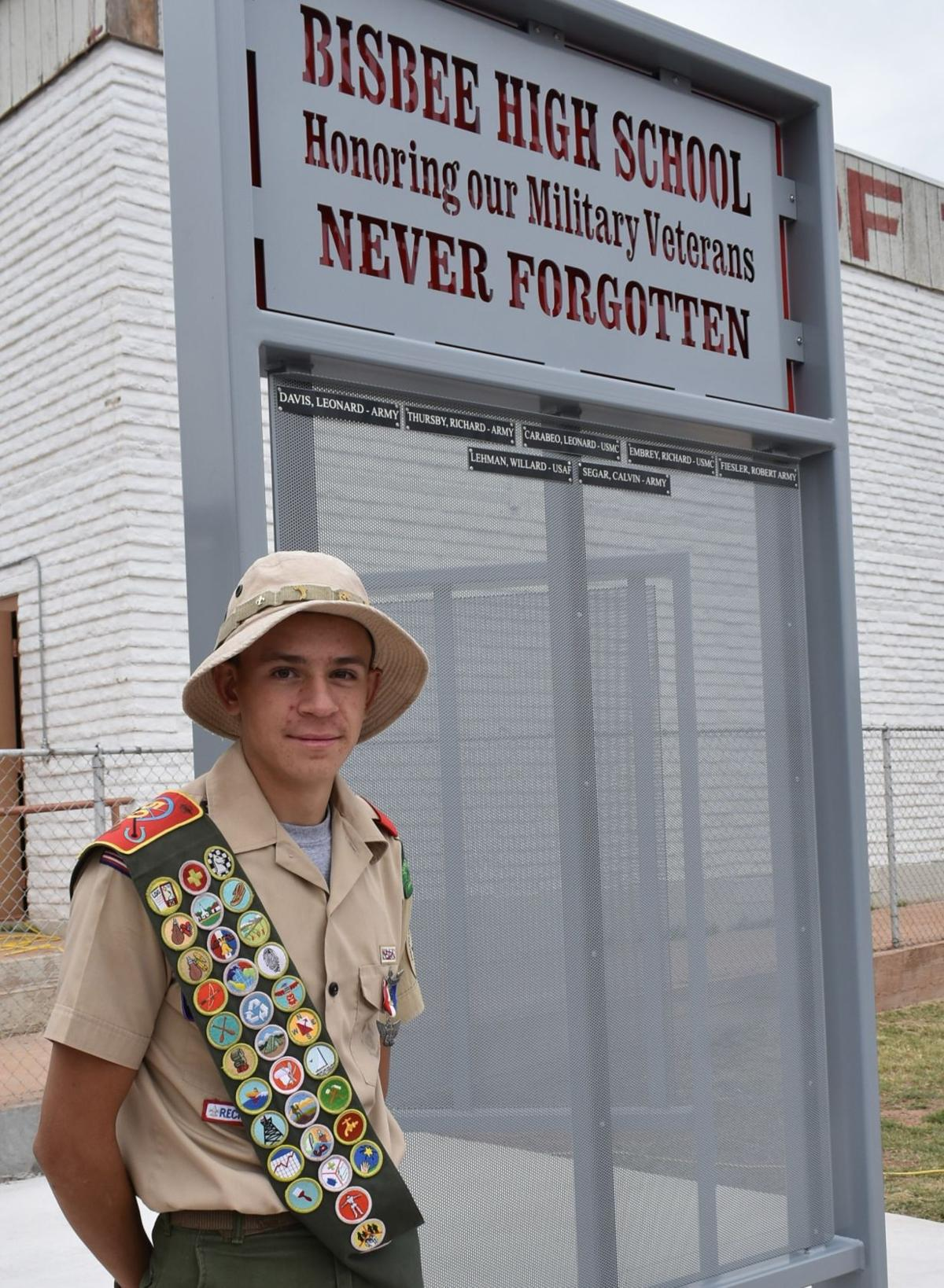 BHS Eagle Scout honors Bisbee's veterans with memorial
