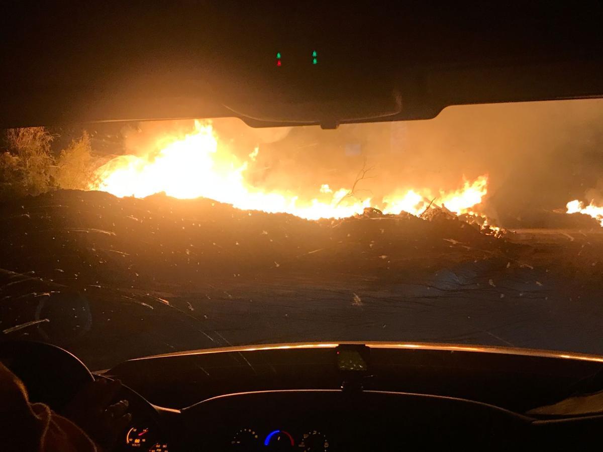 fry fire in california