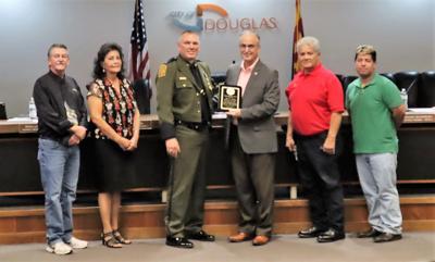 Douglas City Council recognizes retiring BP agent