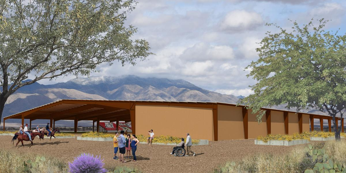 Final Artist Rendering for Willcox Event Center at Quail Park Arena