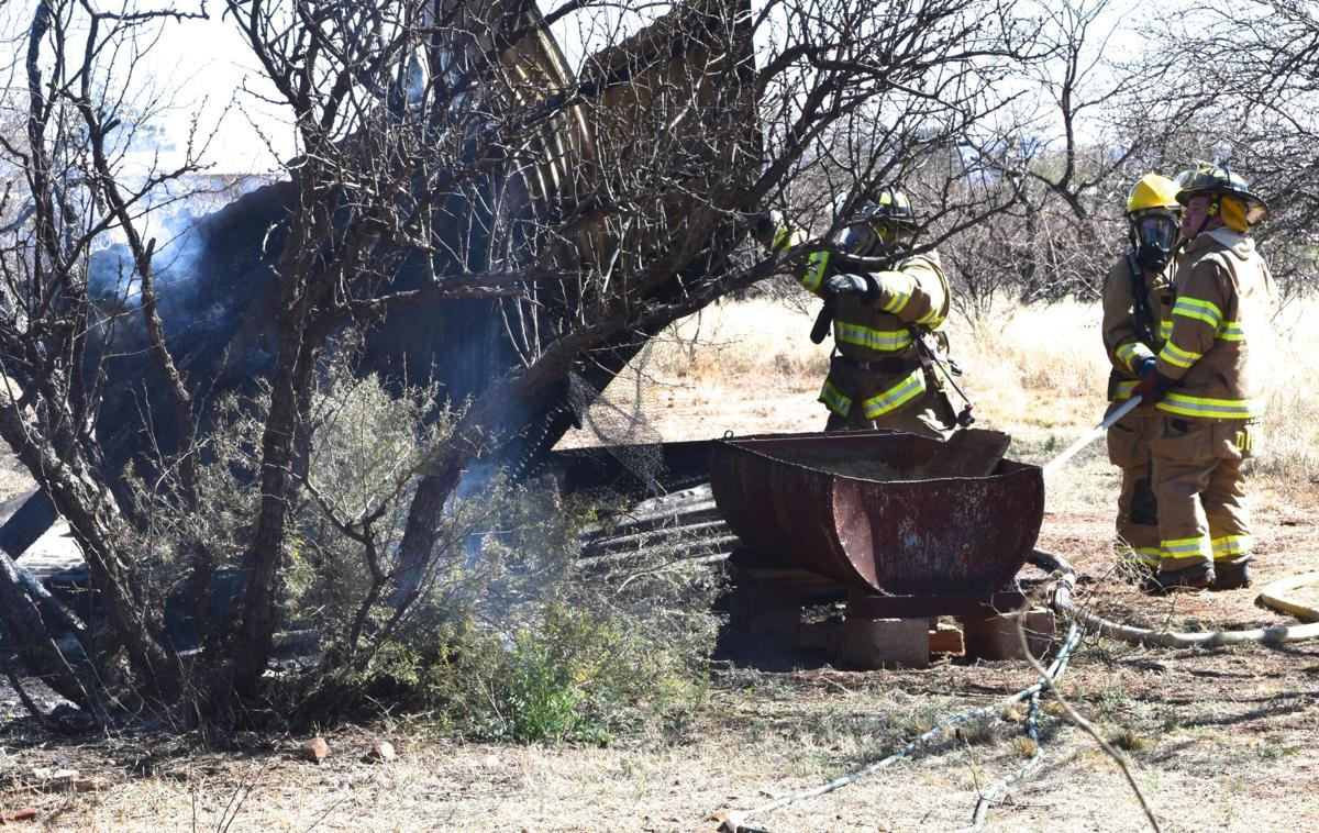 Heat lamp destroys corral and shed in Whetstone