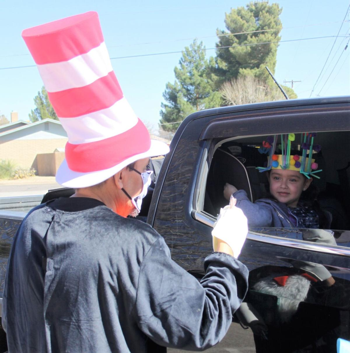 COVID-19 fails to stop the Cat in the Hat from visiting DUSD