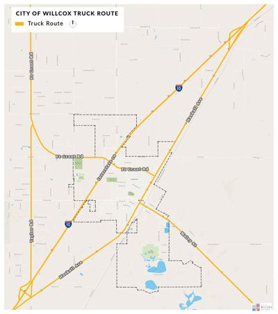 City of Willcox's newly adopted trucking route