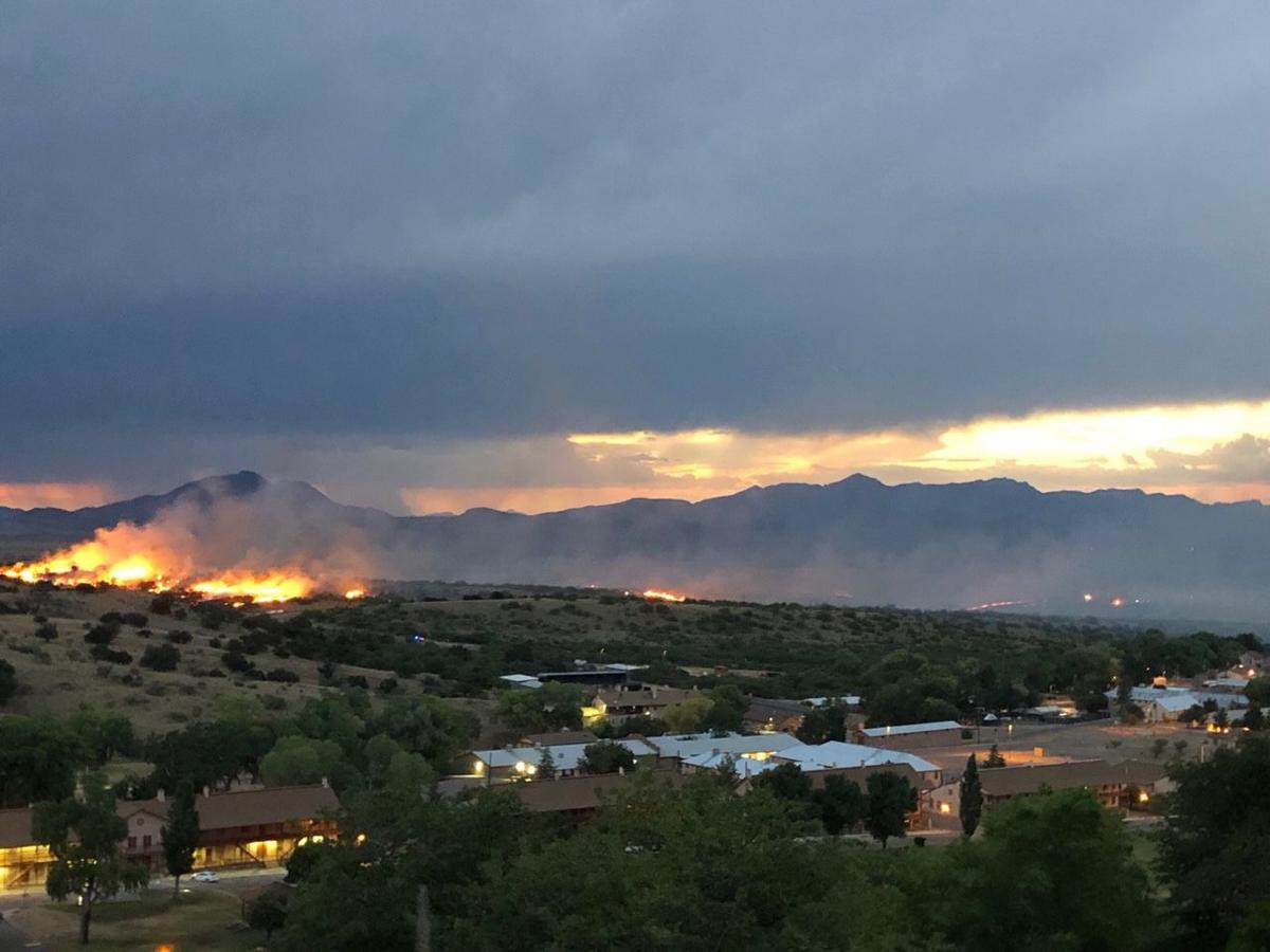 Wildfire burns more than 1,100 acres on Fort Huachuca