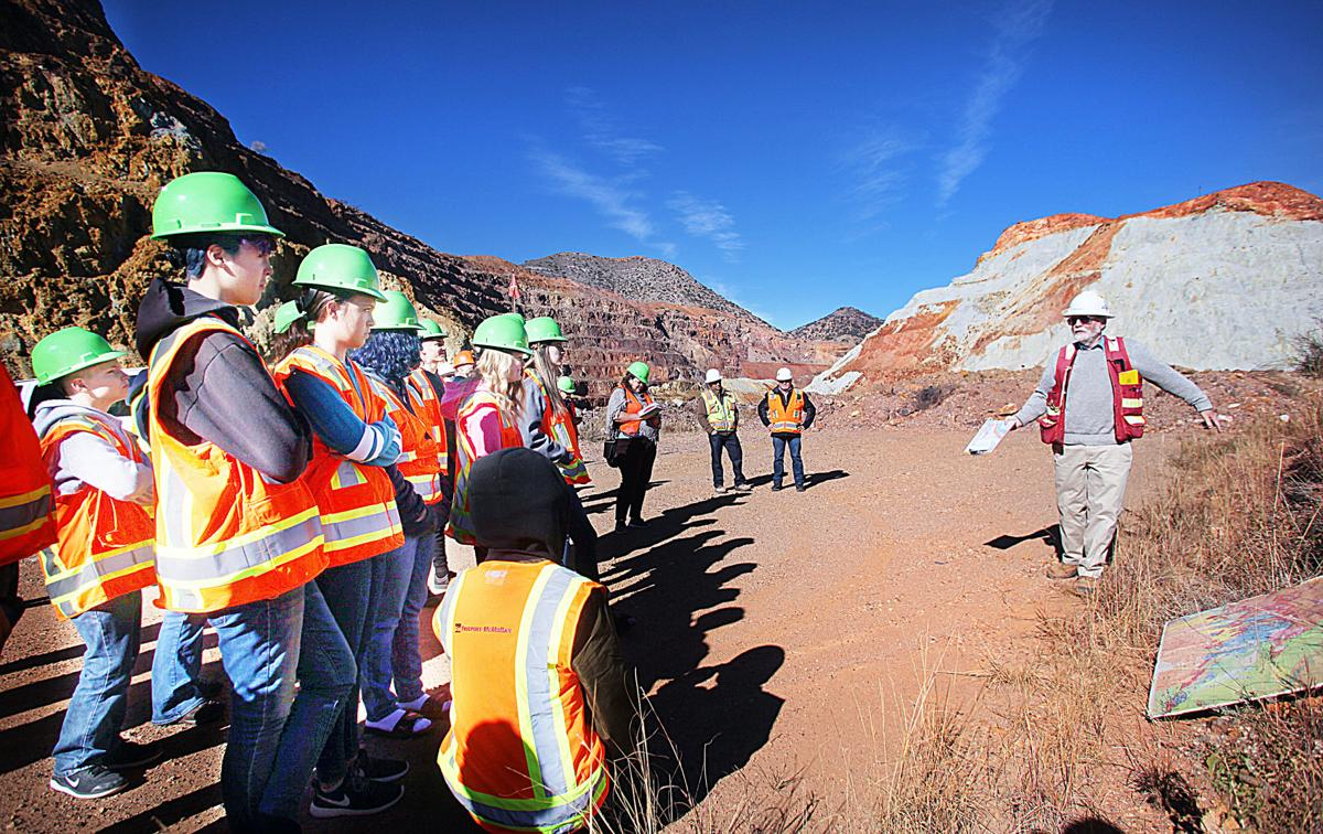 Inquiring minds: Young leaders tour Lavender Pit as part ...